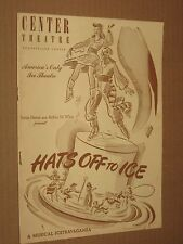HATS OFF TO ICE - Vintage 1945 Center Theater Booklet NYC - Sonja Henie