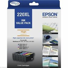 Genuine Epson 220XL 5-ink value pack for WF2630,WF2650,WF2660,Home XP220