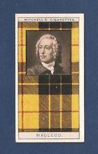 Macleod Clan Tartan 1927 original card Highland Clan Dunvegan Castle Hold fast