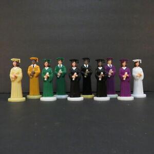 "Graduation Boy Girl Male Female Cake 4 1/2"" Figure Multiple Gown Colors Topper"