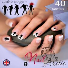 Gothic Zombies Nail Water Transfers Decal Art Stickers x 40