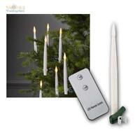 10 SIN HILOS LED Velas de la Navidad Guirnalda Luces Iluminación árbol
