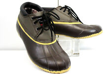 Superior Boot Co. Brand Men's Size 11 Duck 3 Eye Leather Uppers Waterproof Brown