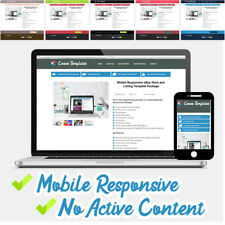 eBay Listing Template 2018 Mobile Responsive Custom Colours - No Active Content