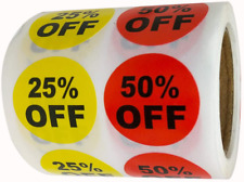 1 Inch 25% 50% Percent Off Stickers Labels Garage Yard Sale Price Sticker For Re
