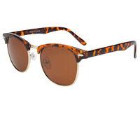 Polarized Clubmaster Sunglasses Men's Womens Vintage Designer Metal Half Frame X