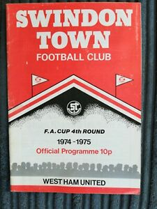 74/5 Swindon Town vs West Ham United (FA Cup 4th Round Replay)
