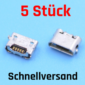 5x Micro USB Ladebuchse 5Pin, MicroUSB Jack, Female Connector Chargingport