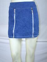 """HANDMADE"" NEW juniors Denim Zippered Jean Skirt size extra small XS fits 0 1"