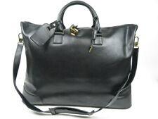 Authentic Old CELINE Large Boston Bag travel Black Leathe OK condition r1636