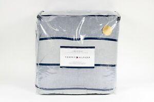 Tommy Hilfiger Rugby Stripe  King Comforter Blue Set Cotton New