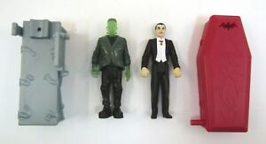 Burger King Universal Monsters DRACULA + FRANKENSTEIN Figure Lot 1997