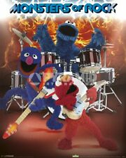 Sesame Street Monsters Of Rock POSTER 40x50cm NEW * Elmo Grover Cookie Monster