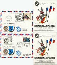AUSTRIA ALPINE SKI BALLOON 1982 FRANCE 2 CARDS VFU KINDERDORF PRO JUV