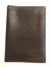 Longchamp Brown Leather Passport Cover Document Holder Wallet