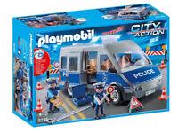 Playmobil 9236 - City Action - Polizeibus mit Straßensperre Neu & OVP