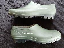 Waterproof Dunlop NEW Unisex Garden Shoes Clogs Goloshes Green Size 9 UK Euro 43