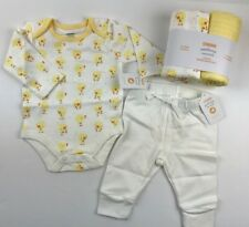 New Gymboree Baby Boy 0-3 Mo 4 Pc Outfit Set Swaddles Shirt Pants Ducklings