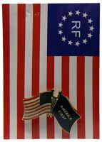 USA Trump America First! Friendship Crossed Lapel Hat Pin Tie Tac