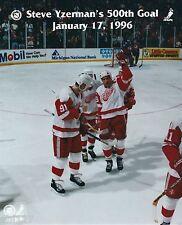 Steve Yzerman 500th NHL Hockey Goal Photo Jan 17 2006 OOP