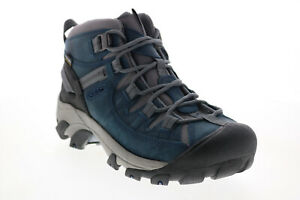 Keen Targhee Mid 1024072 Womens Blue Leather Lace Up Hiking Boots Shoes 7