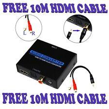 HDMI 1.4 3D 4K Audio Converter Splitter SPDIF Optical RCA Stereo Toslink Coaxial