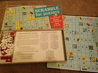 VINTAGE RETRO JUNIOR SCRABBLE Board Game By Spears Games Juniors Used 1958