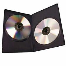 10 x Double DVD Case Cases 7mm Spine Slim Black Clear Front Cover Sleeve 2 DISC