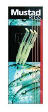Mustad NEW 3 Hook Vibro Eel Luminous Yellow Body Sea Fishing Rig