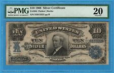 Fr. 304 1908 $10 Silver Certificate PMG Very Fine 20 Tombstone!