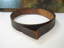 WWII ORIGINAL GERMAN SPECIAL WAFFEN BLACK LEATHER BELT - RZM