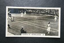 Wimbledon Tennis Ladies Doubles   Original 1930's Action Photo Card # VGC