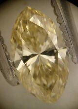 EGL-USA Cert 0.53ct MARQUISE cut diamond NATURAL FANCY BROWNISH YELLOW SI-1