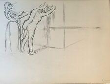 Edgar Degas Gravure of Original Sketch 1877 French, Fine Quality Vintage No.1