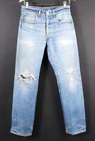 VTG LEVI'S XX 501 Button Fly Distressed Hige Denim Jeans Size 32x36 (30x32)