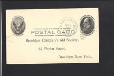 EAST MARION,NEW YORK, 1906 GOVERNMENT POSTAL CARD, ADVT BROOKLYN CHILDRENS AID
