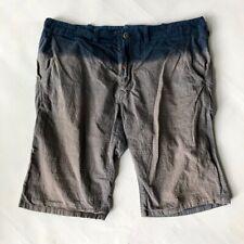 Paul Smith dip tie dye blue grey cotton summer shorts large 34 inch waist