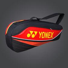 100% YONEX 3 Tennis/4 Badminton Racket Racquet Bag 7523EX 001_Red