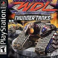 World Destruction League Thunder Tanks Playstation Game PS1 Used Complete