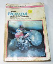 Honda ATC185 & 200, 1980-1986 paperback book M326 Clymer paperback book