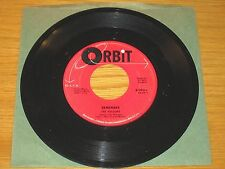 "DOO WOP GROUP 45 RPM - THE VELOURS - ORBIT 9001 - ""REMEMBER"" + ""CAN I WALK U..."""
