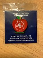 2019 TCS NYC Marathon Volunteer Pin NYRR New York City BRAND NEW Sealed