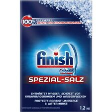 2x Geschirrspüler Salz 1,2 kg Calgonit finish Spezial Salz Kalkschutz