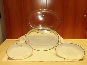 "Teglie Ovali in Vetro - Glass Oval Trays ""30 - 35 Cm"" (PYREX)"