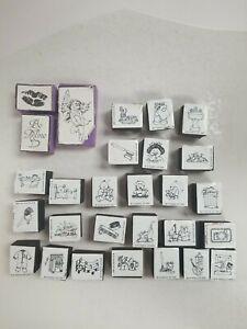 Huge Lot of 28 Foam Stamps Scrapbooking Fun