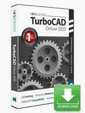 TurboCAD Deluxe 2020 CAD Design Software for Windows -- Electronic Download