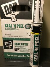 Dap 18354 Seal 'N Peel Removable Clear Caulk, 10.1-Ounce 12pk