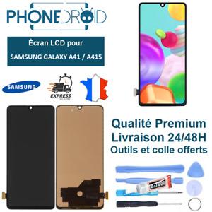 Écran complet LCD + Tactile Samsung A41 (A415) noir + Outils, stock FR