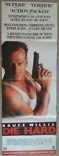 "Die Hard Bruce Willis very rare vhs uk release poster long drop 16"" x 46"""
