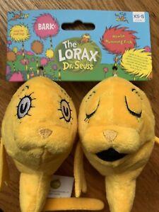 BARK box Dr. Seuss The Lorax Howlin' Humming Fish Dog Toy XS-M